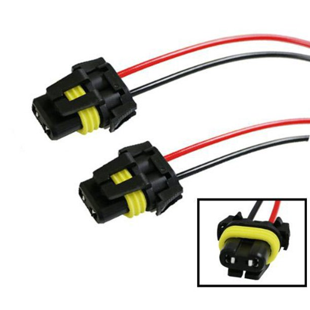 iJDMTOY (2) 900-Series 9005 9006 Female Adapter Wiring Harness Sockets Wire  For Headlights Fog Lights - Walmart.com - Walmart.comWalmart