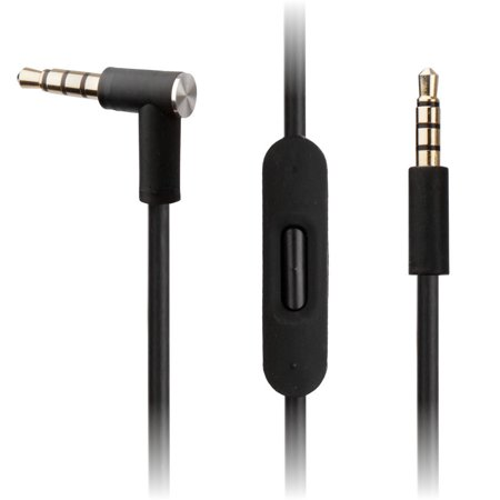 BLACK Audio Cable w/ RemoteTalk for Solo2 Beats by Dr Dre Headphones - Solo HD