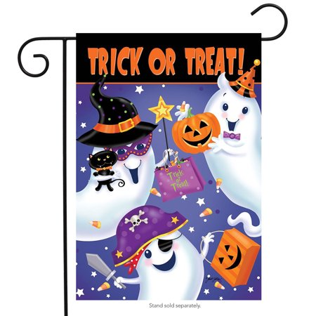 Trick or Treat Halloween Garden Flag Ghosts Candy 12.5