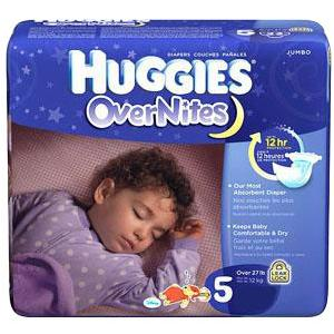 Huggies Overnite Baby Diaper  Tab Closure Size 5 Disposable Heavy Absorbency SnugFit Waistband Pack of 21