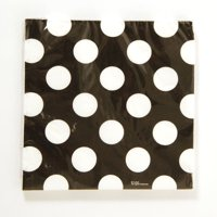 Black and White Dot Pattern Printed Napkin Case Pack 36