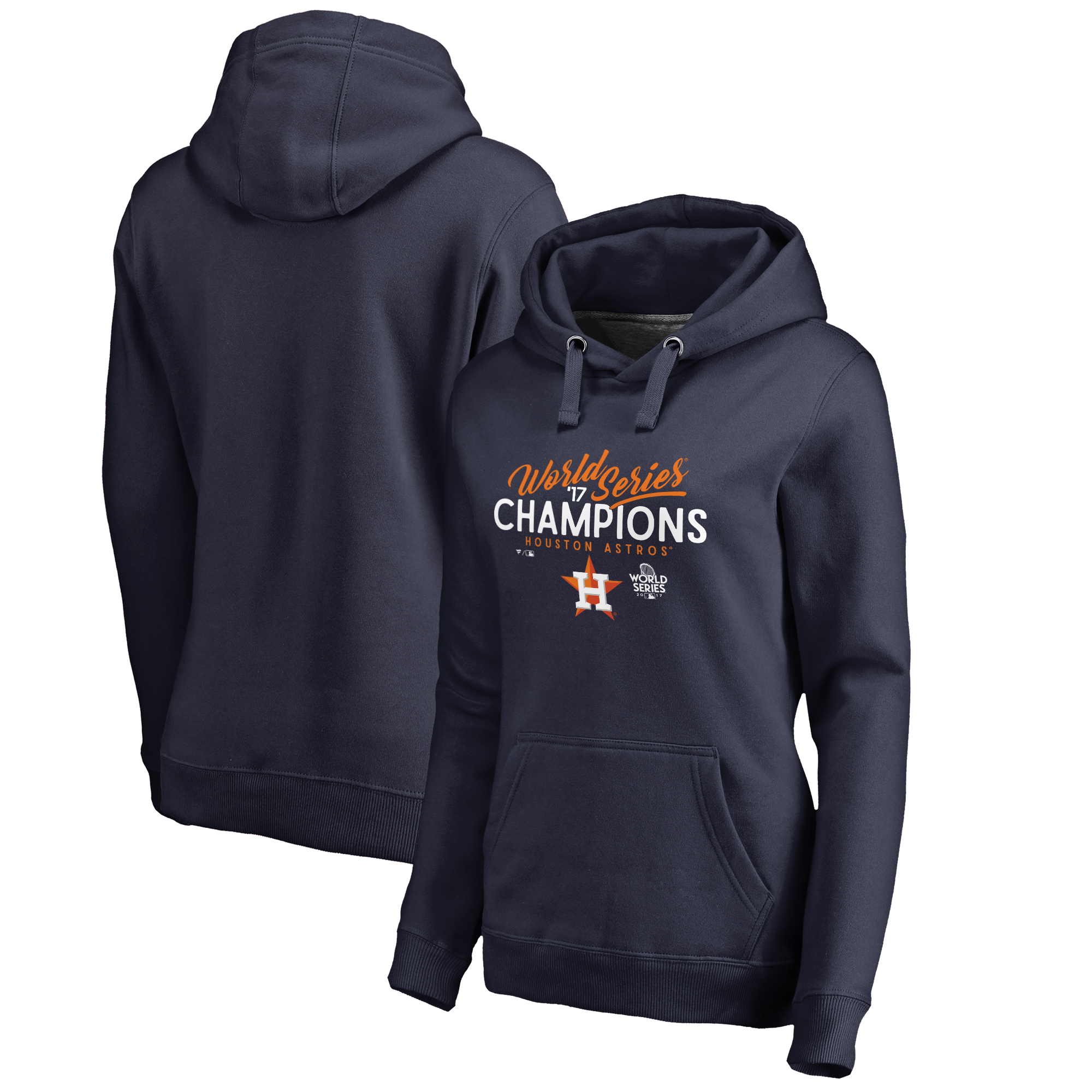 Houston Astros Fanatics Branded Women's 2017 World Series Champions Hitter Pullover Hoodie - Navy