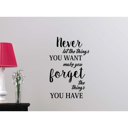 Never let the things you want make you forget student Classroom sport football basketball baseball cute inspirational family love vinyl quote saying wall art lettering sign room - Cute Classrooms