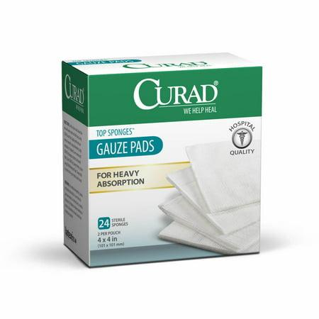 Curad Sterile Post Op Top Sponge, 24 Ct (Top Sterile)
