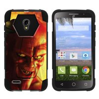Product Image Alcatel One Touch Pop Icon 2 A846L Shock Fusion Heavy Duty Dual Layer Kickstand Case -