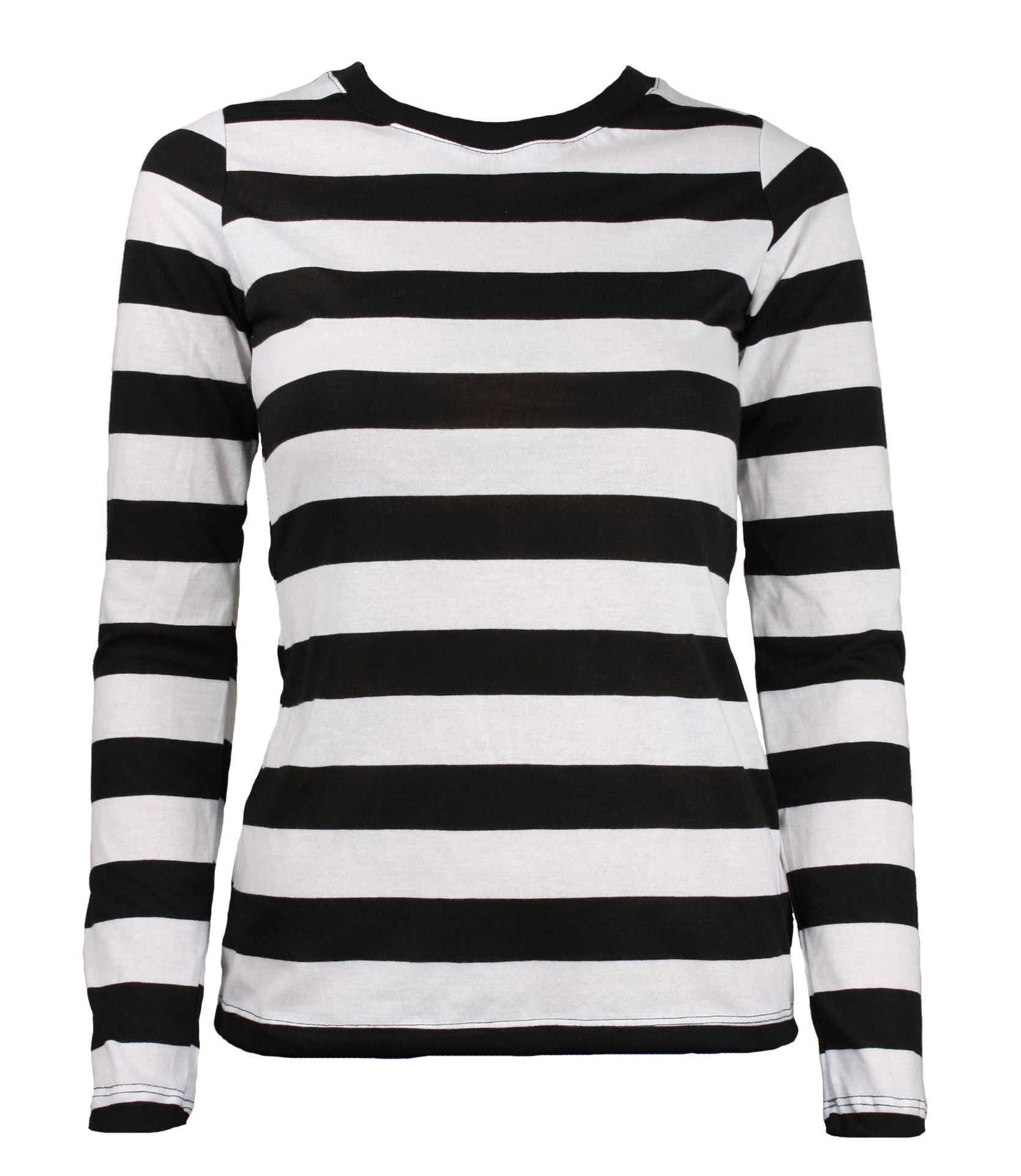 Tragic Mountain - Long Sleeve Black White Striped Women s Shirt Medium -  Walmart.com bdcbdff1cd3b