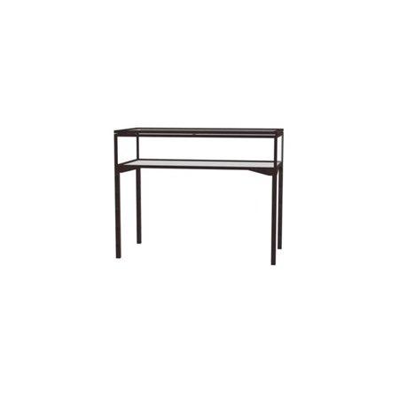 Waddell 3148HT-BZ-LB Keepsake 48 x 10 x 24 in. Table Top Four Leg Display Case with 4 ft. Length Hinged Top, Dark Bronze 613 Dark Oxidized Satin Bronze