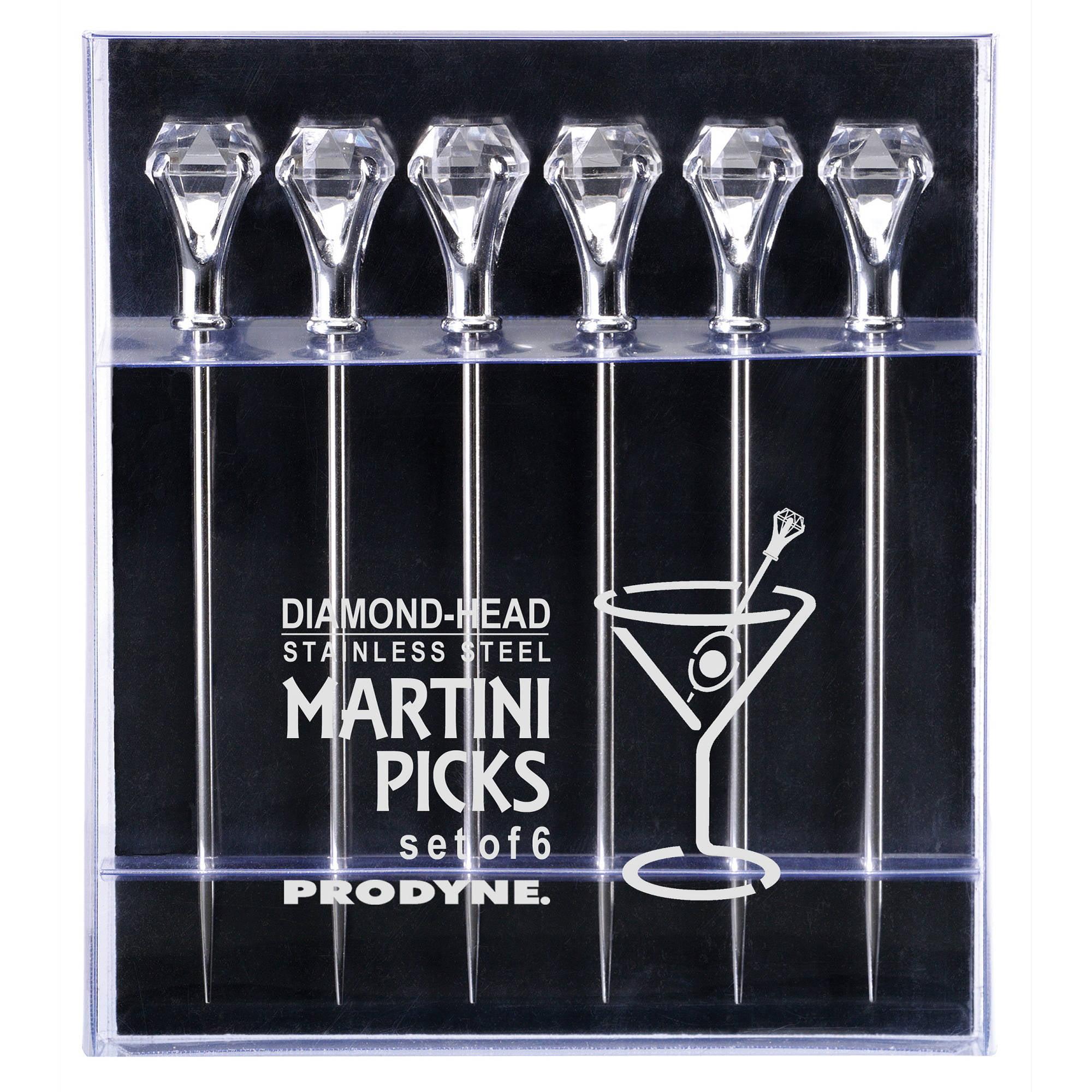Prodyne DIAMOND-HEAD Martini Picks, Set of 6 by Prodyne