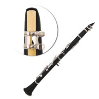 Ymiko 17 Key Descending B Tone Bakelite Clarinet with Reeds Cleaning Cloth Woodwind Instruments, Woodwind Instrument, Musical Instrument