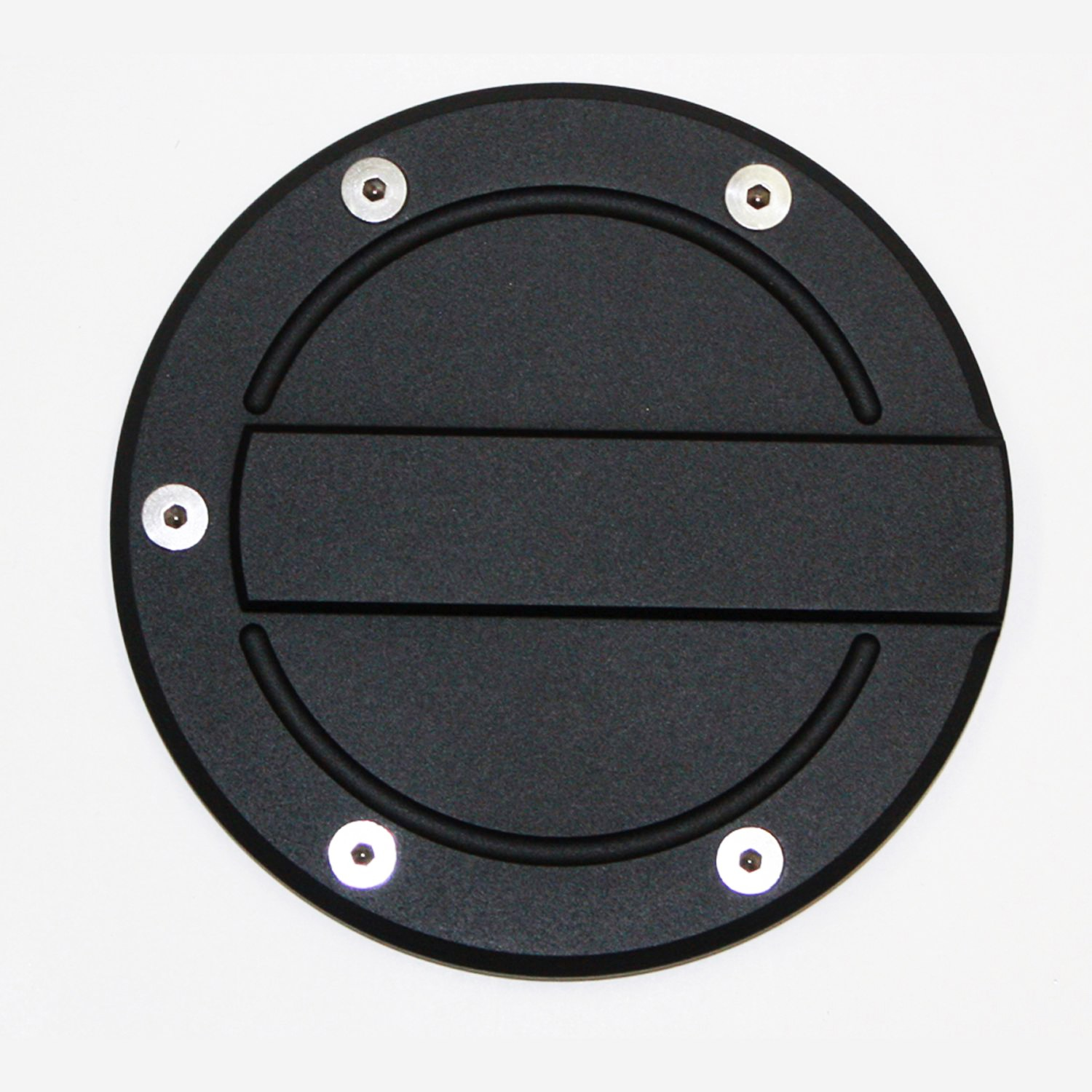 ALL SALES 6159K 09-14 F150(EXCEPT FLARESIDE) BILLET FUEL DOOR COVER RACE STYLE - FLAT BLACK RING