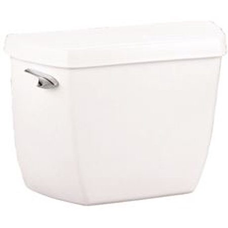 kohler highline classic toilet tank with left-hand lever, 1.0 gpf, white