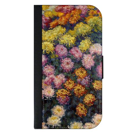 Artist Claude Monet's Bed of Chrysanthemums - Wallet Style Phone Case with 2 Card Slots Compatible with the Samsung Galaxy s8+ / s8 Plus Universal (Artist Bed Set)
