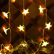 Battery operated string lights kohree star fairy lights battery operated star string lights 30 led christmas decoration light warm white aloadofball Image collections