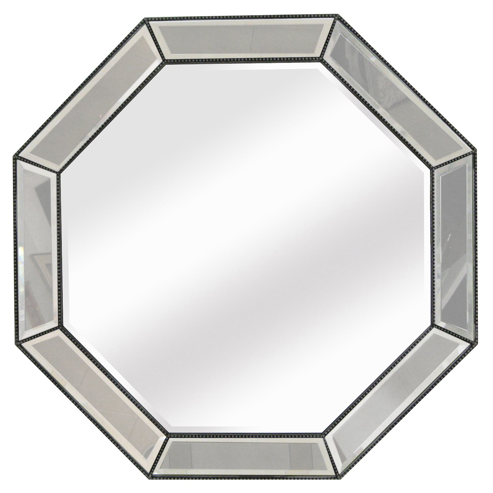 Beaded Octagon Wall Mirror - 44W x 44H in.