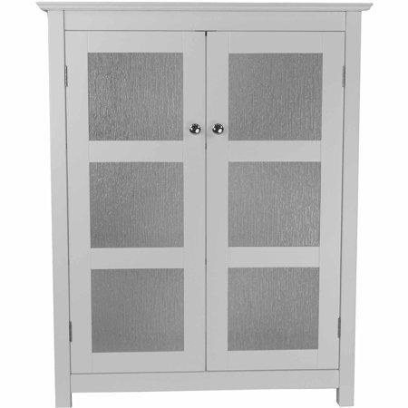 Connor floor cabinet with 2 glass doors white for 100 doors floor 49