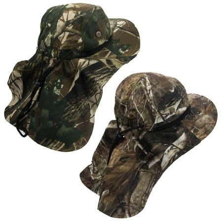 c5b8bac5bb4 2 Boonie Hats With Neck Flap Sun Caps Head Giggles Buckets Adult Outdoor  Fishing - Walmart.com