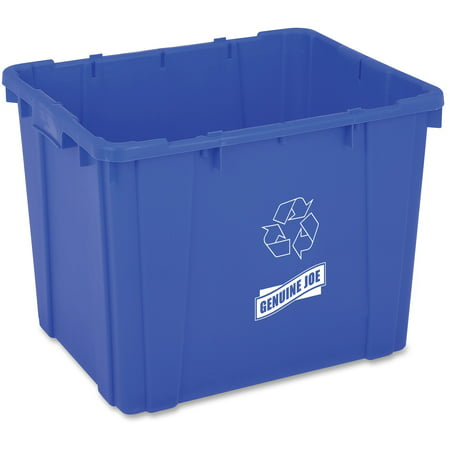 Genuine Joe, GJO11582, 14-Gallon Recycling Bin, 1, Blue