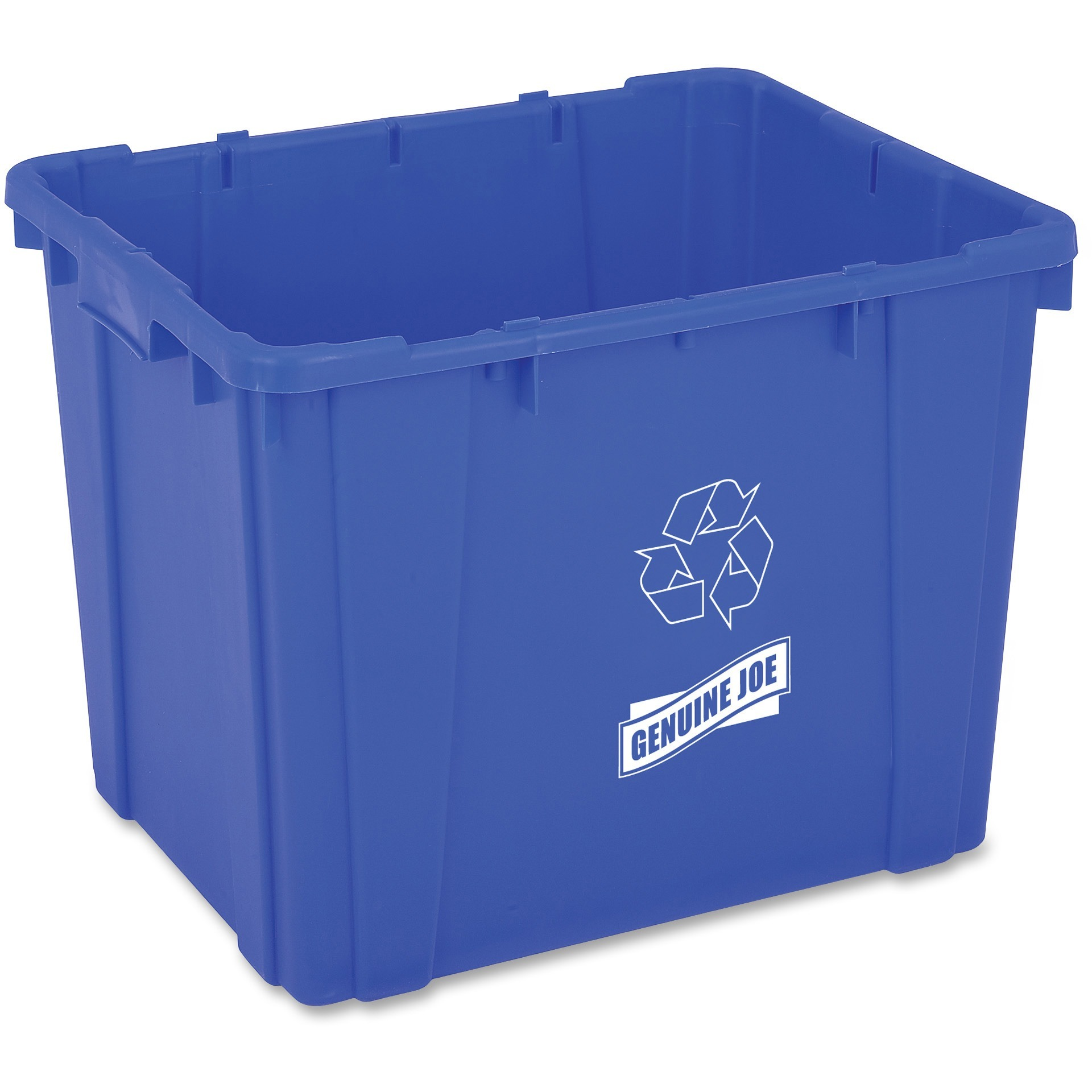 Genuine Joe, GJO11582, 14-Gallon Recycling Bin, 1, Blue