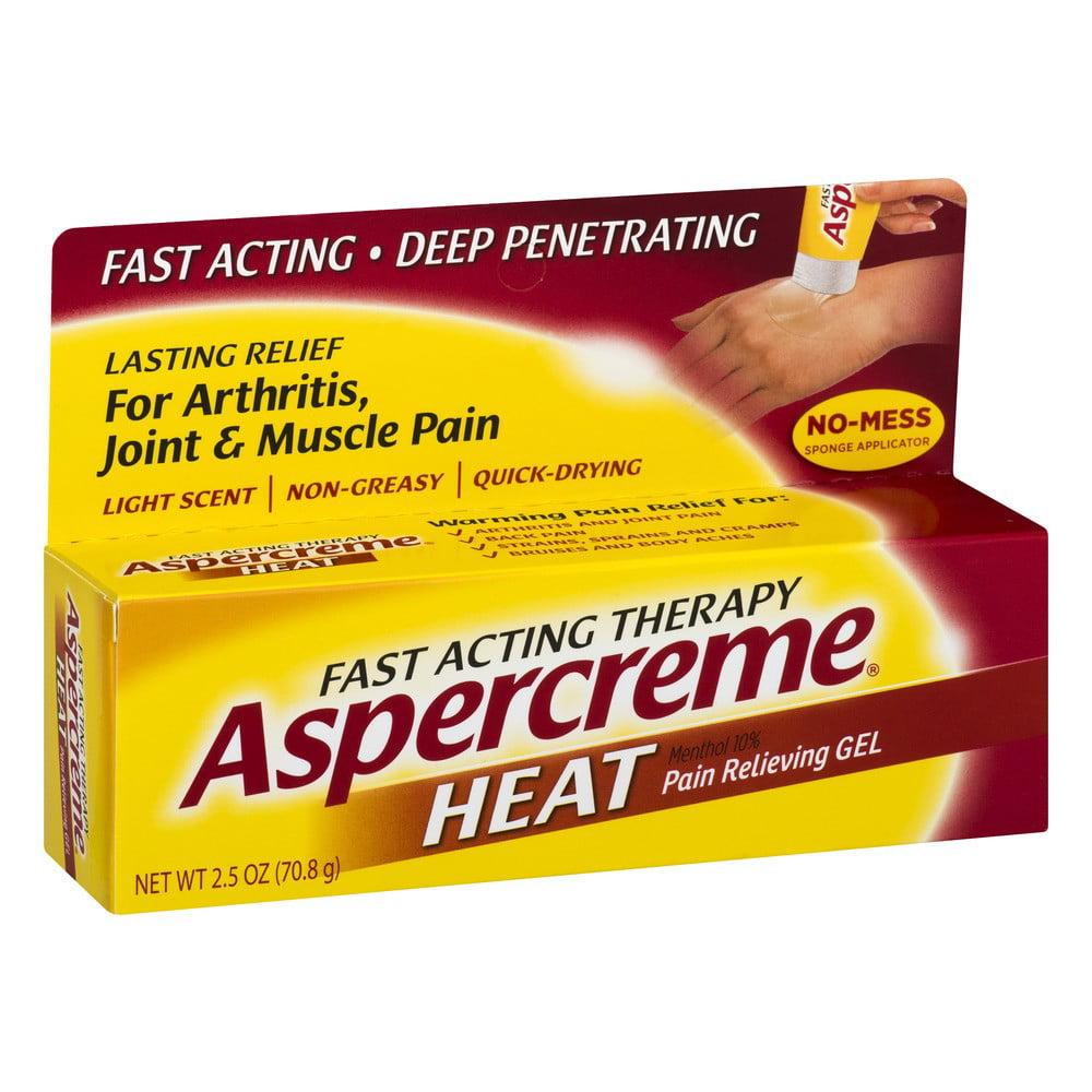 Aspercreme Heat Pain Relieving Gel, 2.5 Ounce