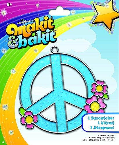 Colorbok Tb-66599 Makit And Bakit Suncatcher Kit, Peace Sign - image 1 de 1
