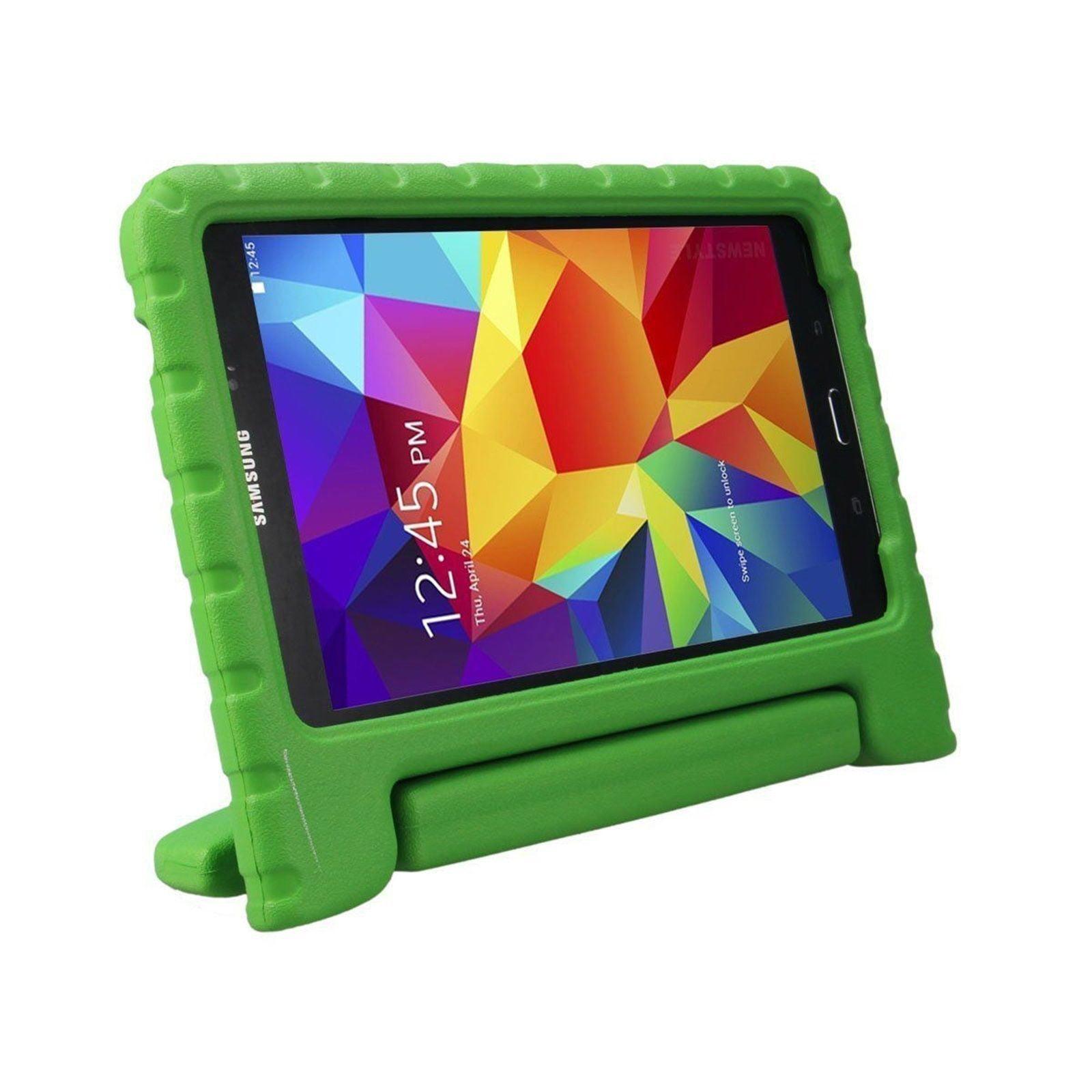 Galaxy Tab E 8.0 T377 Kids Case by KIQ Child-Friendly Fun Kiddie Tablet Cover EVA Foam For Samsung Galaxy Tab E 8 inch SM-T377 (Green)