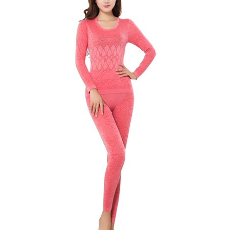 Organic Long Sleeve Thermal (EFINNY Wome's Long Sleeve Thermal Underwear Tops+Pants )