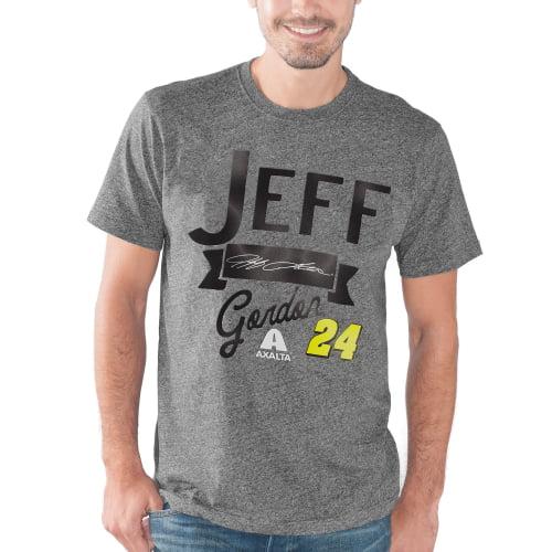 Jeff Gordon G-III Sports by Carl Banks Cam Shaft Mock Twist Jersey T-Shirt - Gray