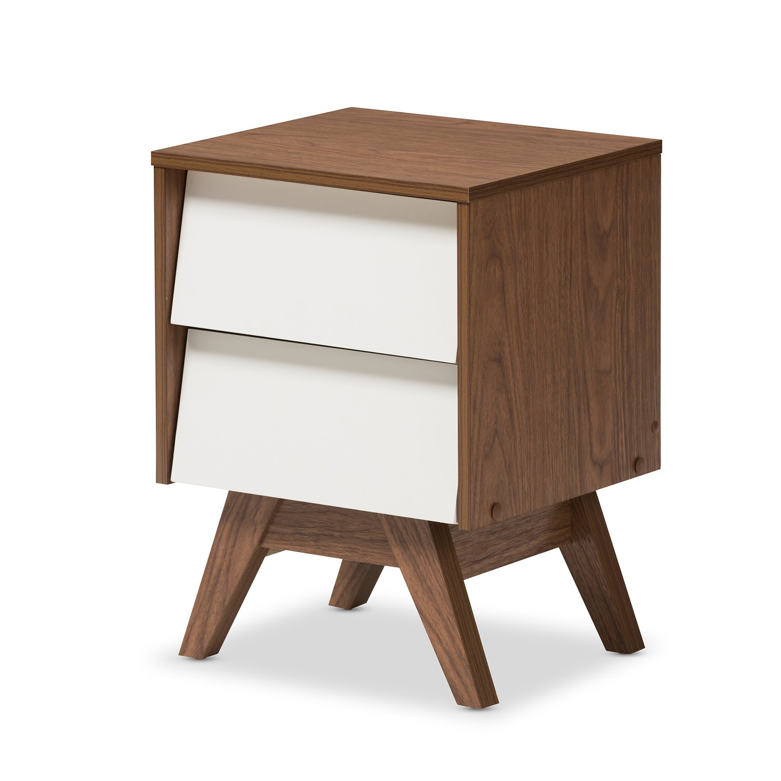 Baxton Studio Hildon 2-Drawer Storage Nightstand