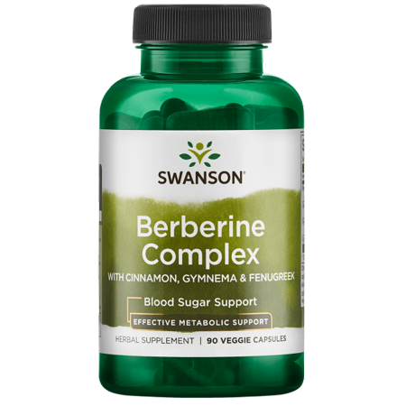 - Swanson Berberine Complex with Cinnamon, Gymnema & Fenugreek 90 Veg Caps
