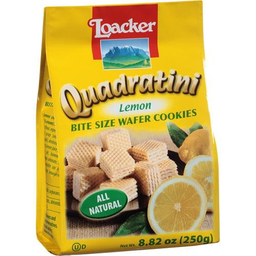 Loacker Quadratini Lemon Wafer Cookies, 8.82 oz, (Pack of, 8)