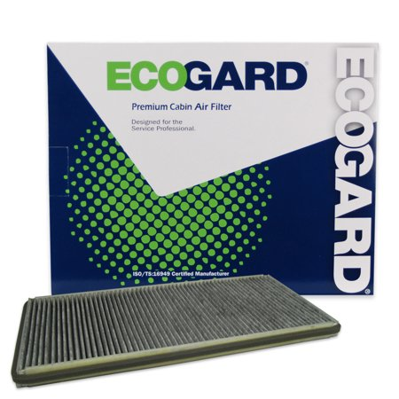 ECOGARD XC15637C Cabin Air Filter with Activated Carbon Odor Eliminator - Premium Replacement Fits BMW X5 / Land Rover Range -