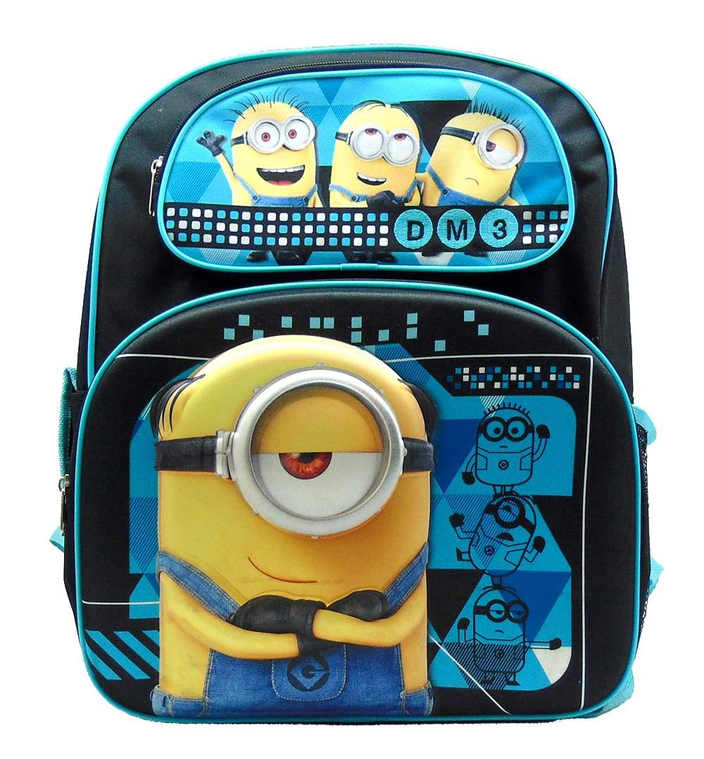 "Despicable Me DM3 Minion Life 3D 16"" Large Backpack"