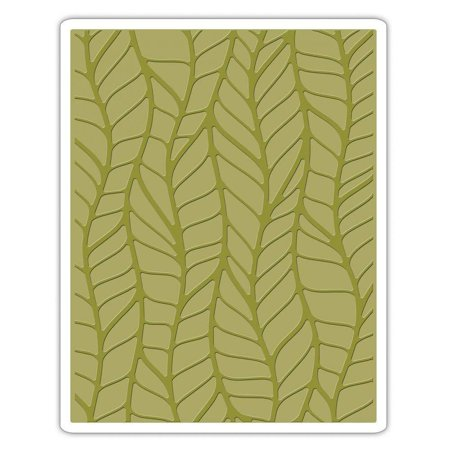 661826 Leafy Texture Fades Embossing Folder, Turn ordinary cardstock, paper, metallic foil or vellum into an embossed, textured masterpiece By - Turn Stock