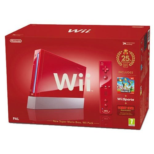 Refurbished Wii Hardware Bundle Red