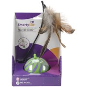 SmartyKat® Feather Whirl™ Electronic Motion Ball Cat Toy