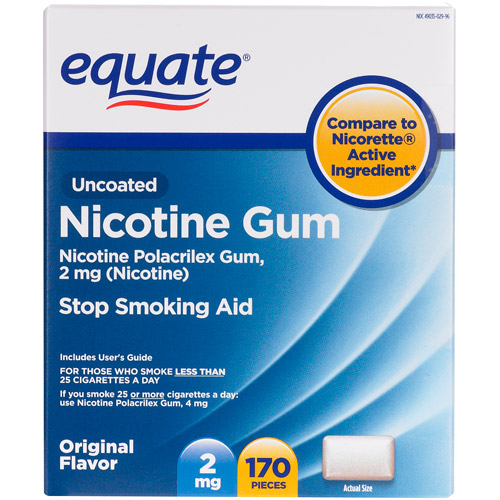 Equate Stop Smoking Aid Original Flavor Gum 2mg, 170 Pieces