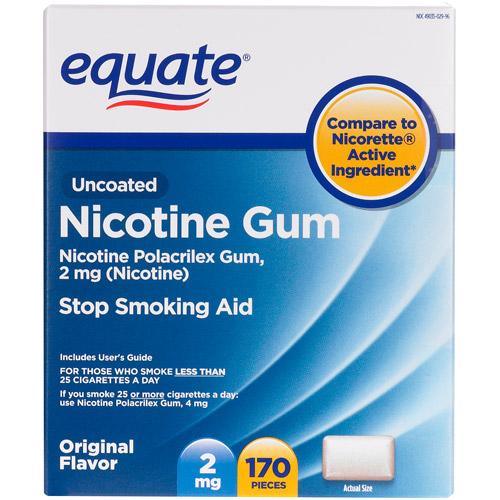 Equate Stop Smoking Aid Original Flavor Gum 2mg, 170 Pieces
