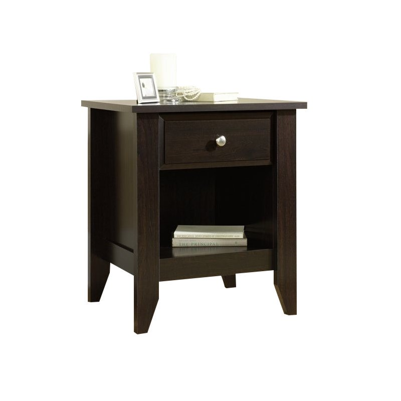 Sauder Shoal Creek Night Stand, Jamocha Wood Finish