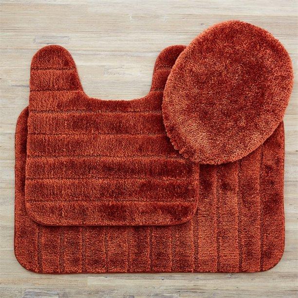 Mohawk Home Veranda 3 Piece Bath Rug Set In Rust Walmart Com