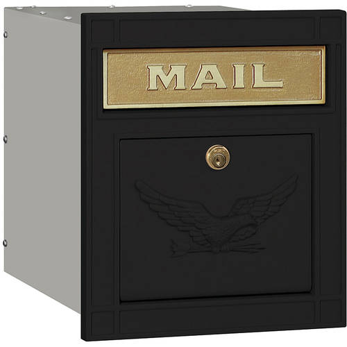 Salsbury Industries Cast Aluminum Column Mailbox, Locking, Eagle Door by Salsbury industries
