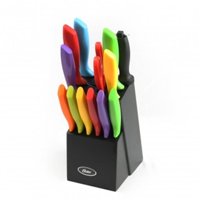 Cutlery Set with Wood Storage Block, 14 Piece