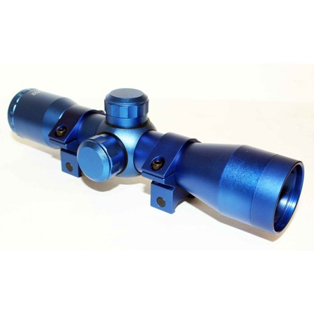 TRINITY 4x32 Rifle Scope Mildot Reticle w-Rings Blue anodize - Trinity Halloween Camp