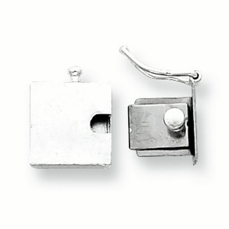 Sterling Silver 10.4 x 10.5mm Push Button Box Clasp 2 Row Box Clasp