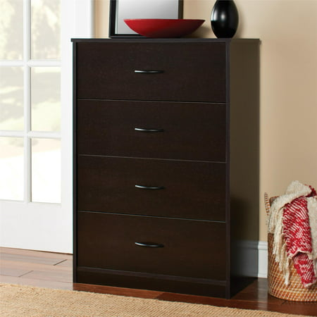 Mainstays 4-Drawer Dresser, Espresso ()