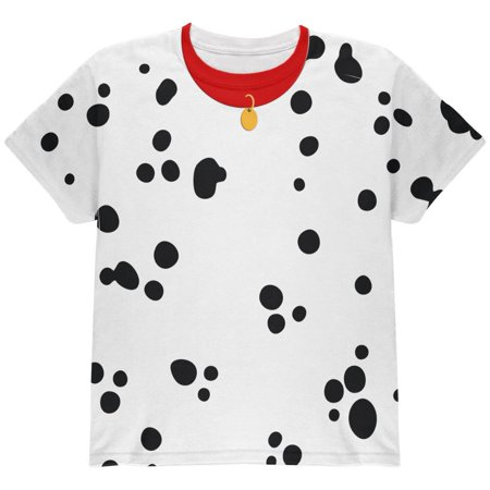Halloween Dalmatian Costume Red Collar All Over Youth T - Itens Do Halloween