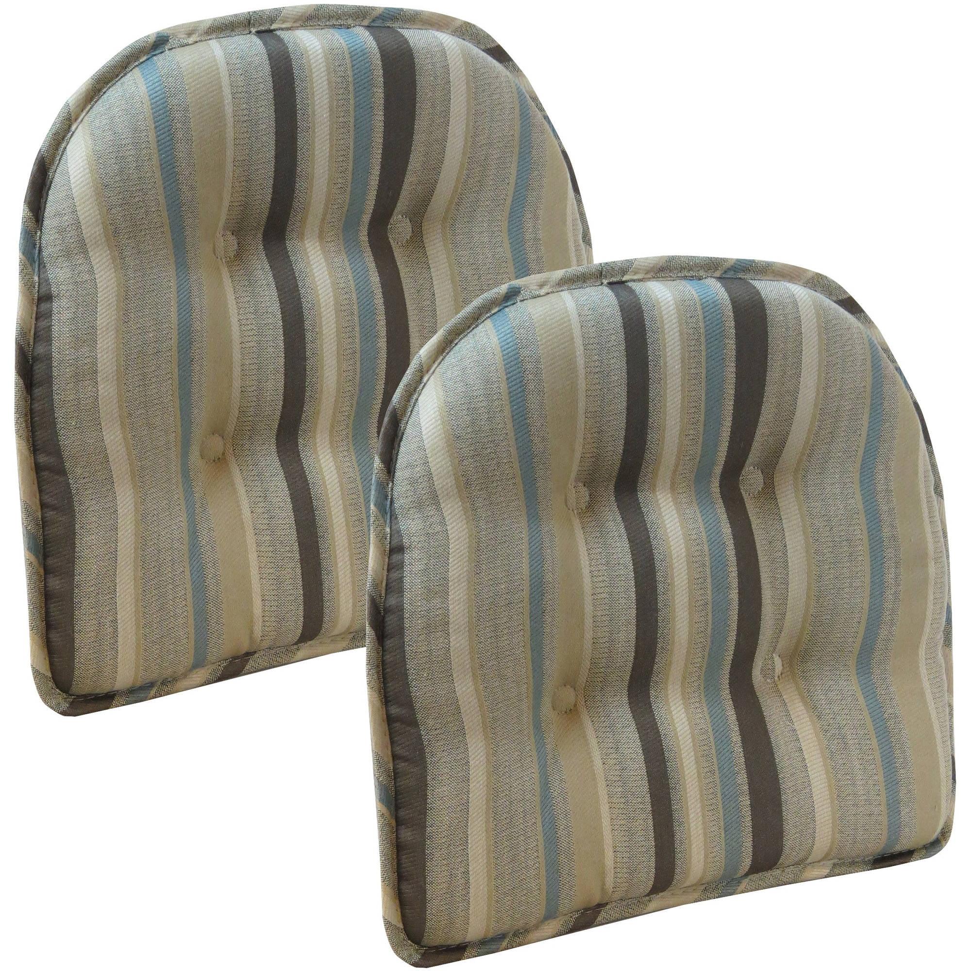 Tolisa Gripper Stripe Chair Pad, Brown/Multi