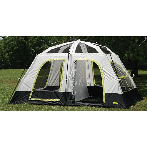Texsport Lazy River 9' x 8' Two-Room Cabin Tent, Sleeps 5
