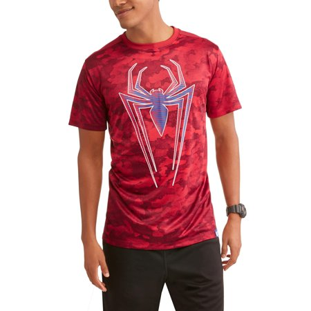Spider-Man Logo Big Men's Active Graphic T-Shirt - Spiderman T Shirts For Adults