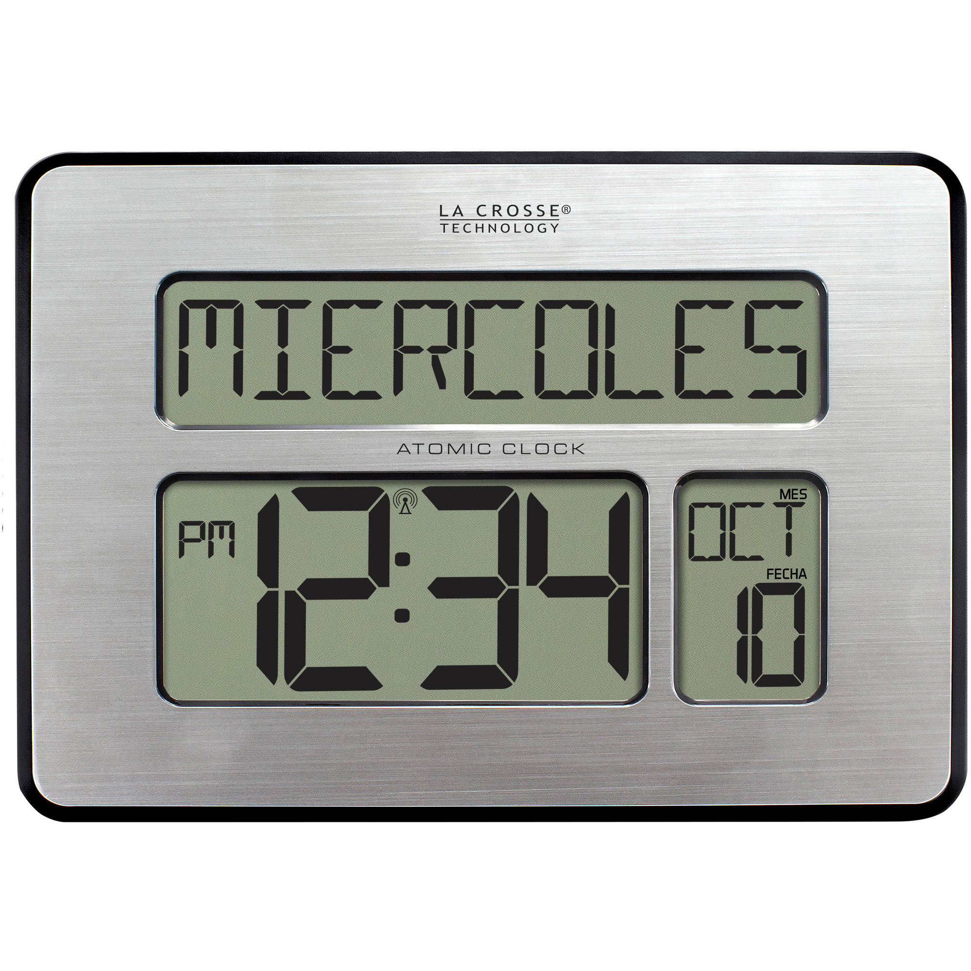 La crosse technology 16 inch extra large atomic digital wall clock wall clocks - Extra large digital wall clock ...