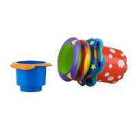 Nuby Splish Splash Bath Stacking Cups, 5 Pack